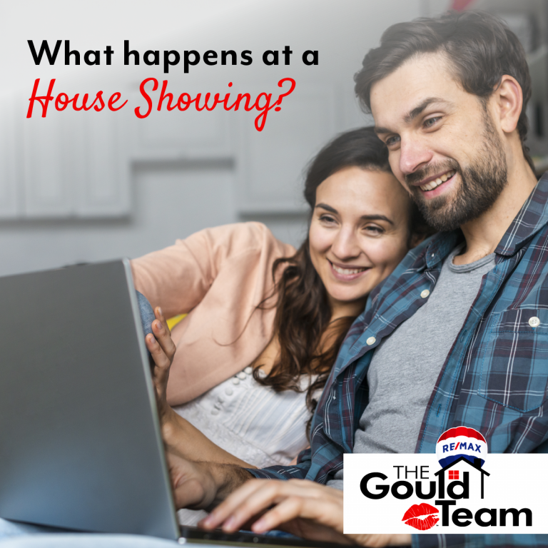 Couple looking at house listings